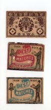 Collectible  match box labels CHINA or JAPAN patriotic #390